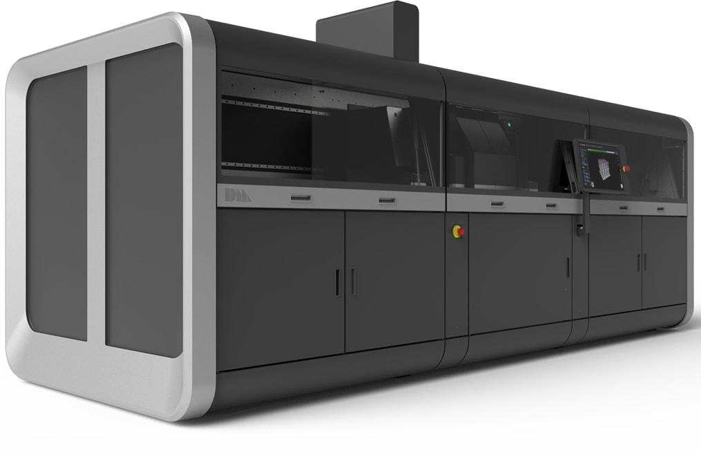 דגם ה-Production שיאפשר להדפיס מאות חלקים ביום, בעלות המתחרה לא רק בטכנולוגיות ההדפסה אלא אף בטכנולוגיות המסורתיות.